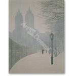 Winter Reservoir, 1987 (oil on panel) - Retratos