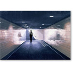 Man Entering Subway Station, 1983 (oil on panel) - Retratos