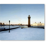 Roosevelt Island Lighthouse, 1991 (oil on canvas) - Retratos