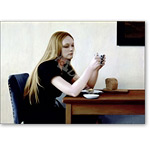 Girl at Table, 1982 (oil on panel) - Retratos