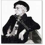 Quentin Crisp (1908-99), 2000 (graphite on paper) - Retratos