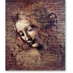 Cabeza de joven mujer con el pelo suelto, o Leda - VINCI, Leonardo da