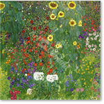 Garden with Sunflowers, 1905-6 (oil on canvas) - Paisajes