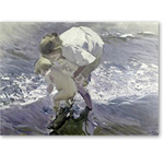 Bathing on the Beach, 1908 (oil on canvas) -