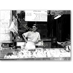 Study for Fish Vendor  2003 (b/w Photo) - Retratos