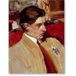 Self portrait in profile (oil on canvas) - Desnudos