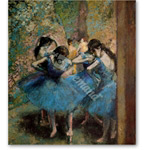 Dancers in blue, 1890 (oil on canvas) - Pintura
