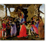 Adoration of the Magi (tempera on panel) - BOTTICELLI, Sandro