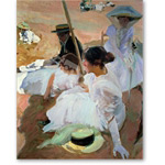 Under the Parasol, Zarauz, 1910 - Desnudos