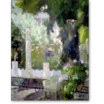 The Gardens at the Sorolla Family House, 1920 (oil on canvas) - Desnudos