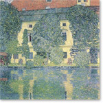 The Schloss Kammer on the Attersee, 1910 (oil on canvas) - Desnudos
