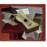 Guitar and Newspaper, 1925  - Gris, Juan
