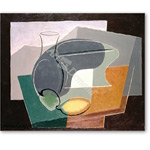 Fruit-dish and carafe, 1927  - Bodegones