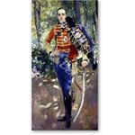 Retrato de Alfonso XIII, con uniforme de Husares/1907 - Desnudos