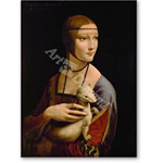Lady with an ermine - probably Cecilia Gallerani, mistress of Lo - Desnudos