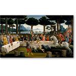 La historia de Nastagio degli Onesti: c) Escena tercera - BOTTICELLI, Sandro
