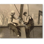 Rockefeller Center, Workmen;New York - Pintura