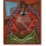 Frau im Sessel  - Retratos