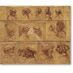 16 cabezas grotescas - VINCI, Leonardo da