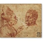 Grotesque heads of an old woman and an old man - Desnudos