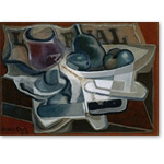 Compotier et verre-Bowl and glass, 1924 Canvas, 24 x 33 cm MNPL 166 - Bodegones