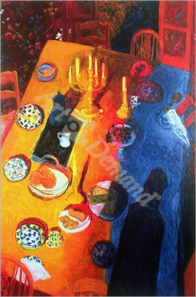 The Supper, 1996 (oil on canvas) - Held, Julie