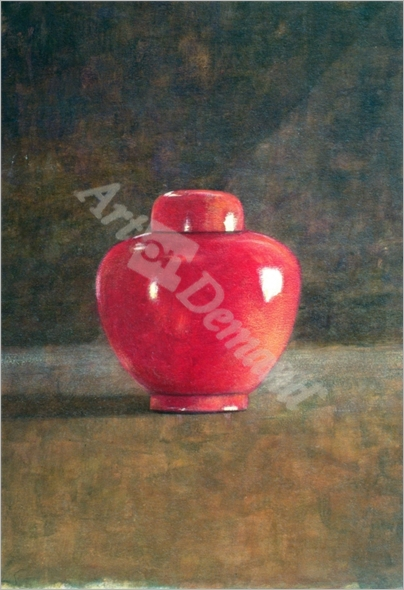 Red Jar, 1996 (acrylic on paper) - Seligman, Lincoln