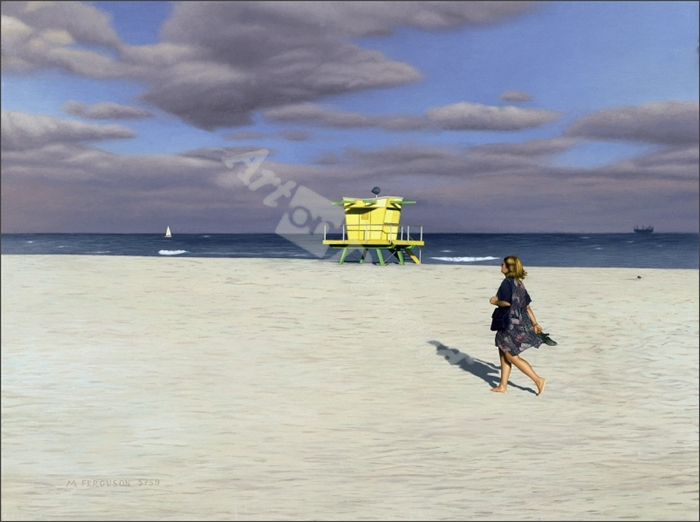 Miami Beach I, 1999 (oil on panel)  - Ferguson, Max