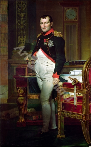 Napoleon Bonaparte (1769-1821) in his Study at the Tuileries, 1812 (oil on canvas) - DAVID, JACQUES-LOUIS