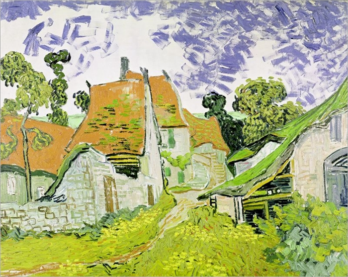 Street in Auvers-sur-Oise, 1890 (oil on canvas) - VAN GOGH, Vincent