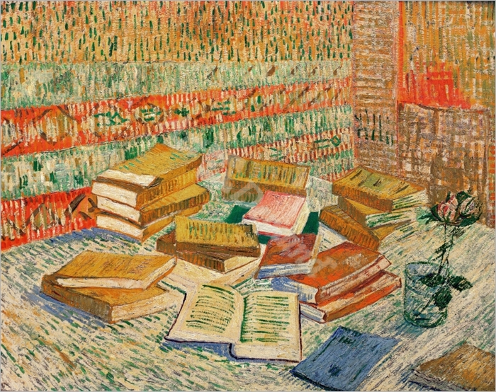 The Yellow Books, 1887 (oil on canvas) - VAN GOGH, Vincent