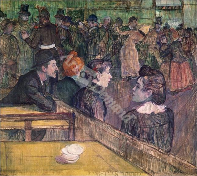 At the Moulin de la Galette, 1899  - TOULOUSE-LAUTREC, Henri De