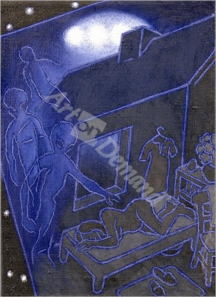 Abduction, 1994 (oil on canvas) - Buhler, Michael