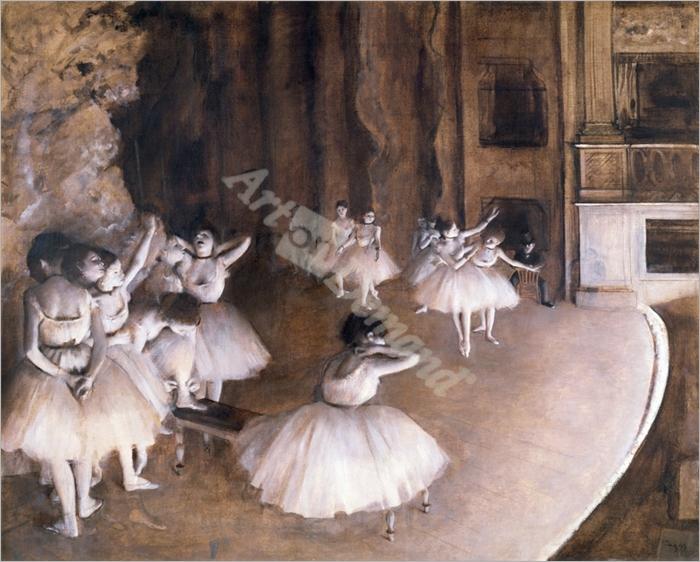 Ballet Rehearsal on the Stage, 1874 - DEGAS, EDGAR