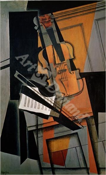 The Violin, 1916  - Gris, Juan