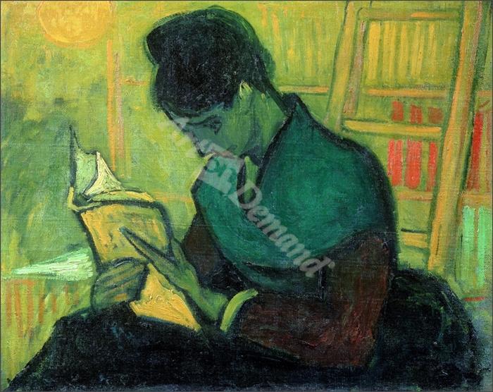 The Novel Reader, 1888 (oil on canvas) - VAN GOGH, Vincent