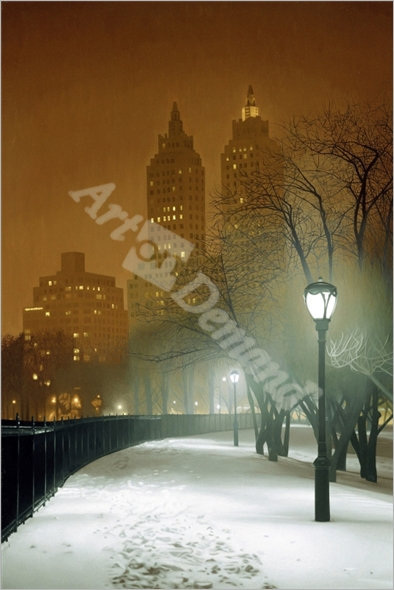 New York Nocturne, 2004 (oil on canvas) - Ferguson, Max