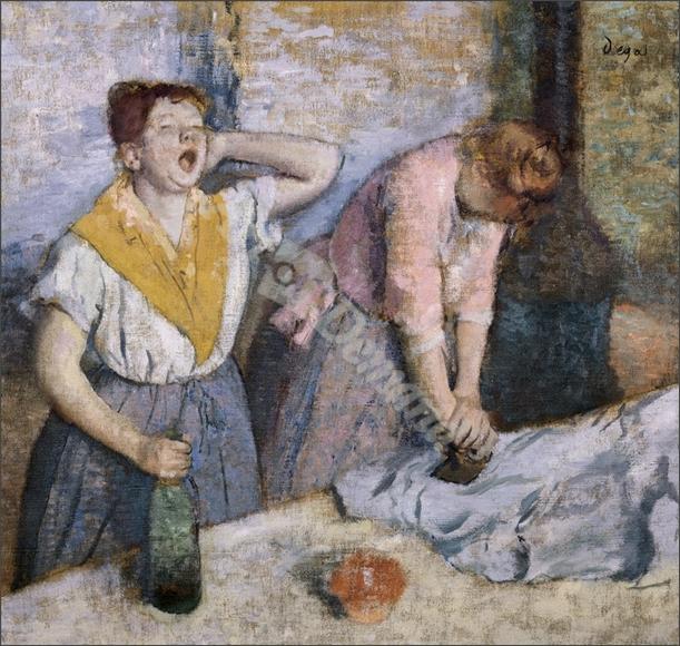 The Laundresses, c.1884 (oil on canvas) - DEGAS, EDGAR