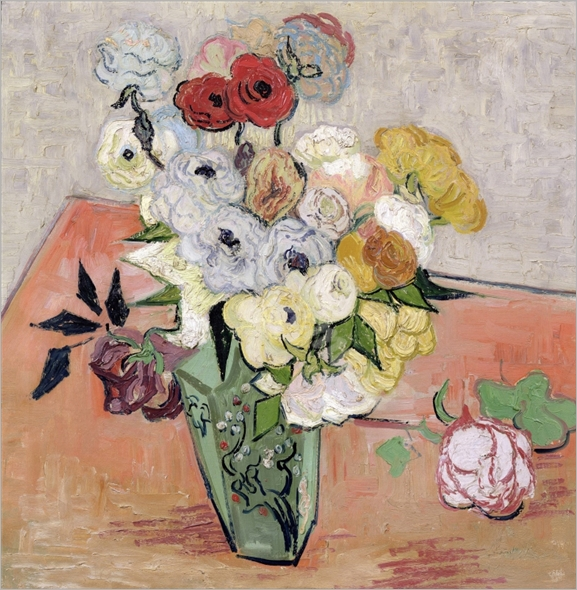 Roses and Anemones, 1890 (oil on canvas) - VAN GOGH, Vincent