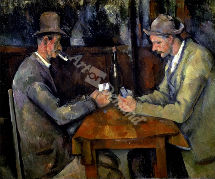 The Card Players, 1890-95 (oil on canvas) - CEZANNE, PAUL