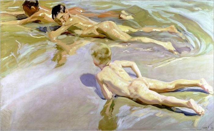 Children on the Beach, 1910 (oil on canvas) - SOROLLA, Joaquín