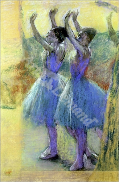 Two Blue Dancers (pastel on paper) - DEGAS, EDGAR