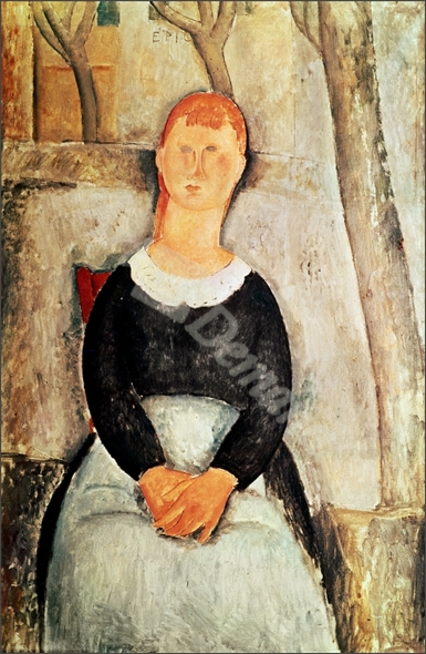 The Beautiful Grocer (oil on canvas) - MODIGLIANI, Amedeo
