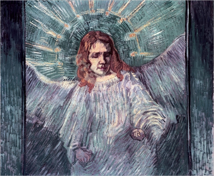 Head of an Angel, after Rembrandt, 1889 (oil on canvas) - VAN GOGH, Vincent