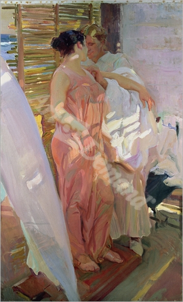 After the Bath, 1916 (oil on canvas) - SOROLLA, Joaquín