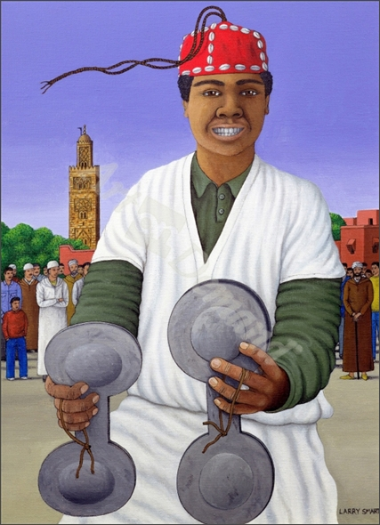 Pursued by Gnawa, 1990 (acrylic on linen) - Smart, Larry