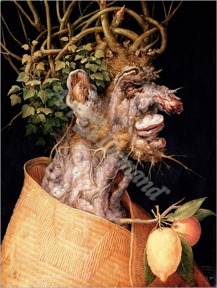 Winter, (oil on canvas) - ARCIMBOLDO, GIUSEPPE