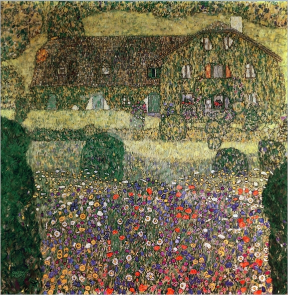 Country House by the Attersee, c.1914 (oil on canvas) - KLIMT, Gustav