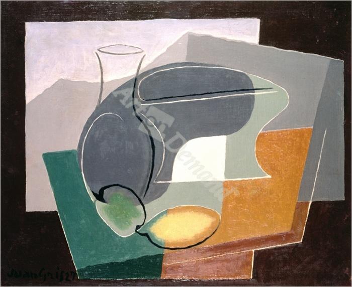 Fruit-dish and carafe, 1927  - Gris, Juan
