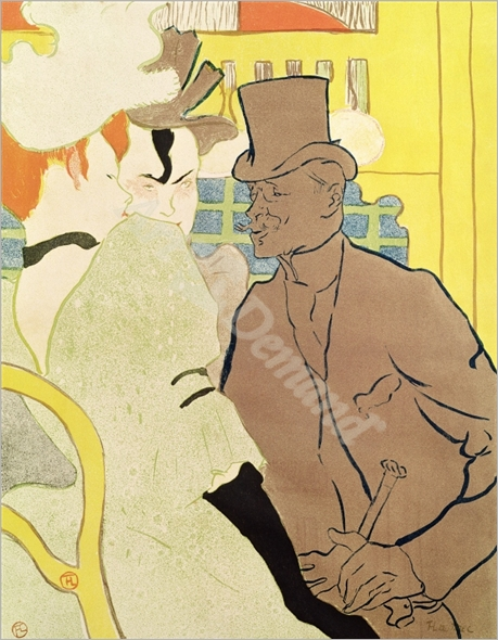 The Englishman at the Moulin Rouge, 1892  - TOULOUSE-LAUTREC, Henri De